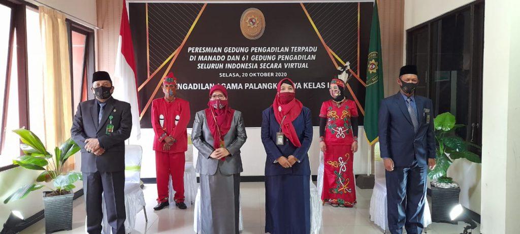 Peresmian 6 Gedung Pengadilan Terpadu di Manado dan 61 Gedung Pengadilan