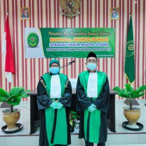 Pelantikan dan Pengambilan Sumpah Jabatan Bapak Drs. Akhmad Baihaqi Sebagai Hakim Madya Utama Pengadilan Agama Palangka Raya Kelas IA