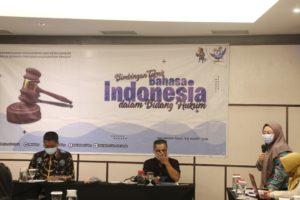 PA Palangka Raya Mengikuti Bimbingan Teknik (Bimtek) Bahasa Indonesia dalam Bidang Hukum yang diselenggarakan oleh Kemendikbud Balai Bahasa Provinsi Kalimantan Tengah