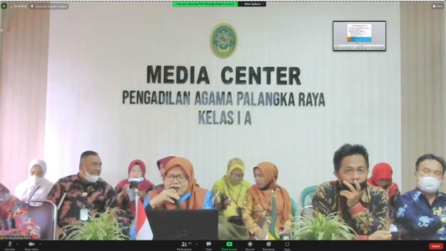 Pembinaan Online oleh Ketua PTA Palangka Raya Tentang Eksekusi dan Permasalahannya